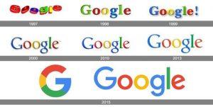 تاریخچه لوگوی گوگل