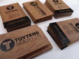 جنس چوبی کارت ویزیت
