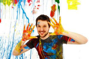 نقاشی با رنگ ها برای طراحی روی لباس