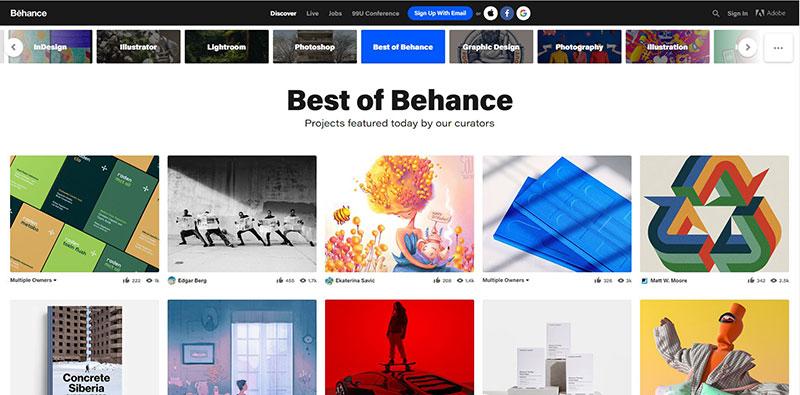 سایت Behance