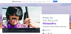 نرم افزار تدوین صداFilmoraPro