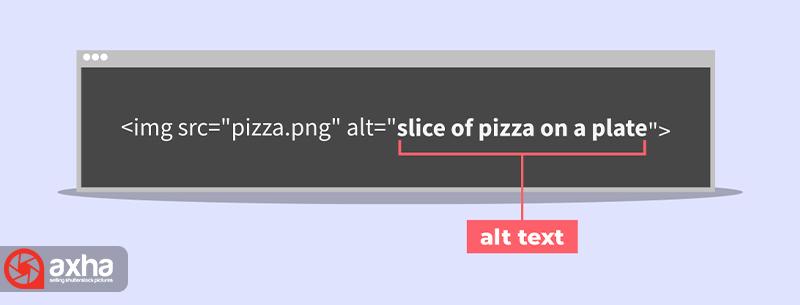 نمونهای از کد HTML تصویر جایگزین